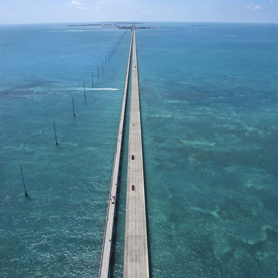 The Florida Keys provide miles of boating and swimming pleasure.