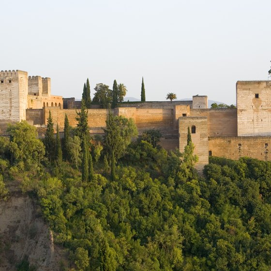 Visitors to Grenada, Spain, can view the magnificent Alhambra Palace.