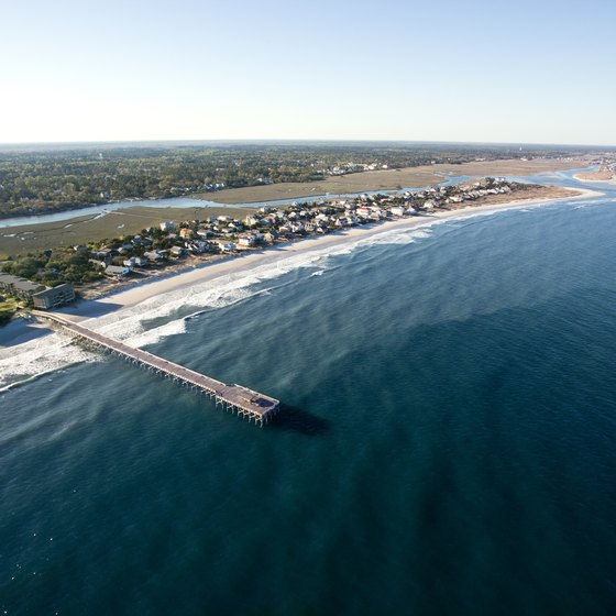 "An aerial view of the ""arrogantly shabby"" Pawleys Island"