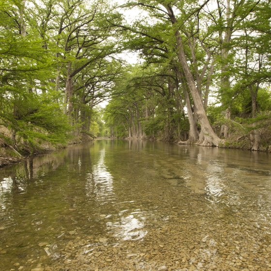 The Medina River winds through the countryside near Lackland Air Force Base.