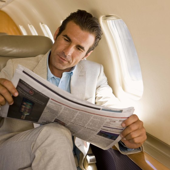 Reading is not the only way to keep your brain alive on a long flight.