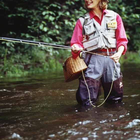 Ohio rivers are stocked with trout for fly fishing.