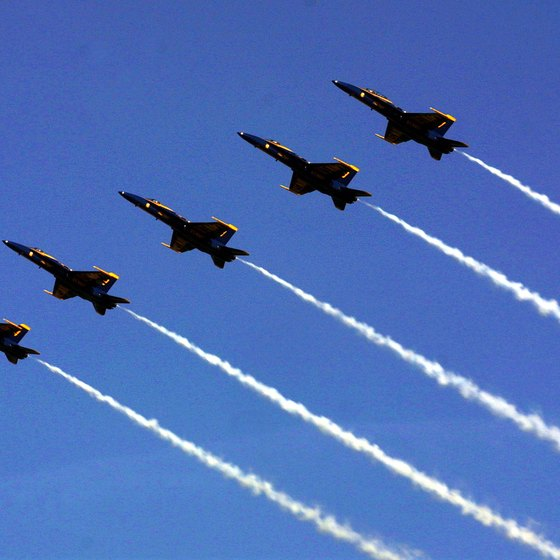 Pensacola is home to the Blue Angels precision flight squadron.