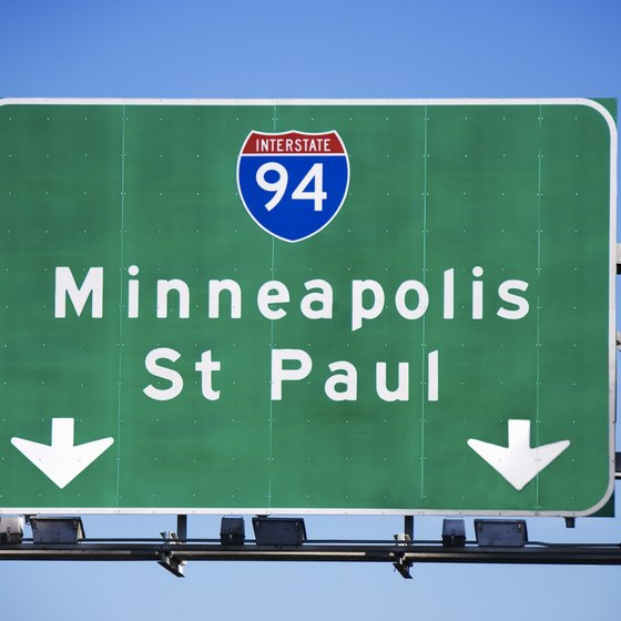 Minneapolis and its twin city St. Paul are only nine miles apart.