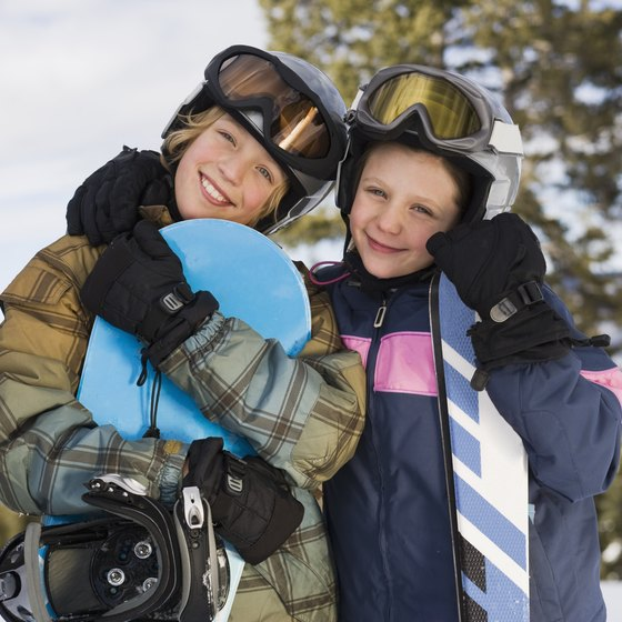 Pennsylvania's top winter sports areas offer snowboarding lessons for children.