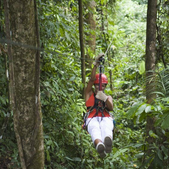 Zip-lining gives you a fun and unique view of the Amazon.