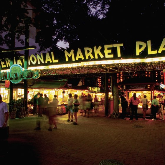 The night market lights up one special corner of the Honolulu nighttime.