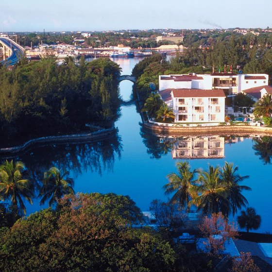 Paradise Island is a resort town just off of Nassau's northern shore.