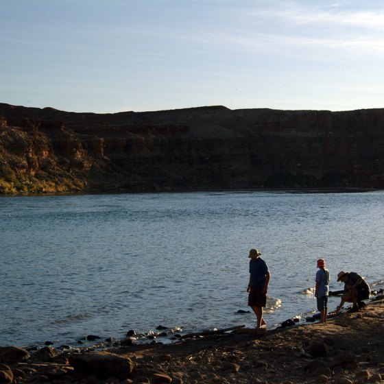 The Colorado River is pristine, but don't swim anywhere without a lifeguard.