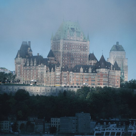 Fairmont Le Chateau Frontenac as seen from the St. Lawrence River.