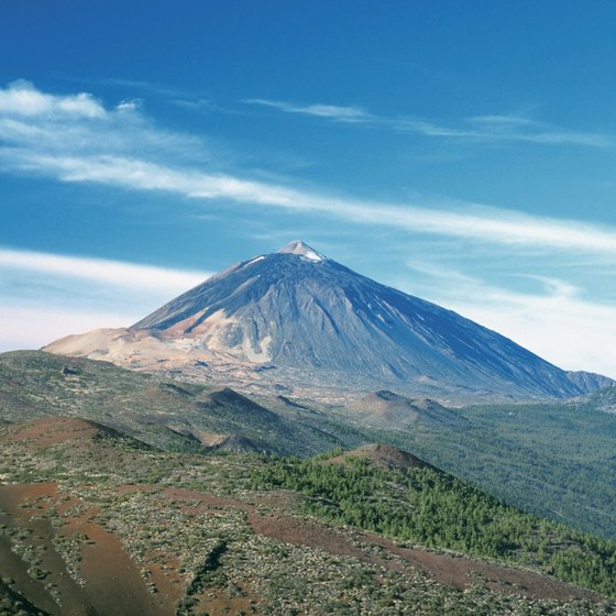 The island of Tenerife includes the Teide Volcano as well as historical towns like San Cristobal de la Laguna.