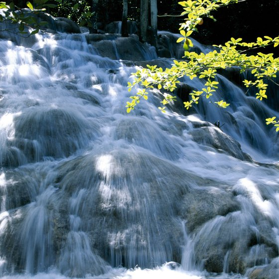 The waterfalls of Jamaica are an attraction for tourists.