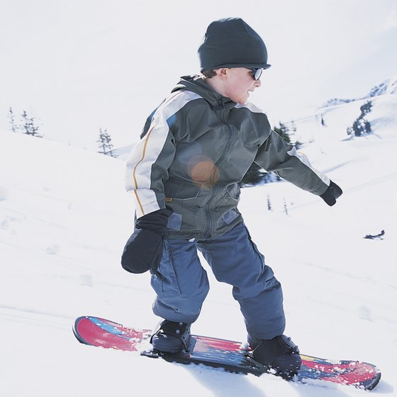 Kids can learn to snowboard at 3 years old.