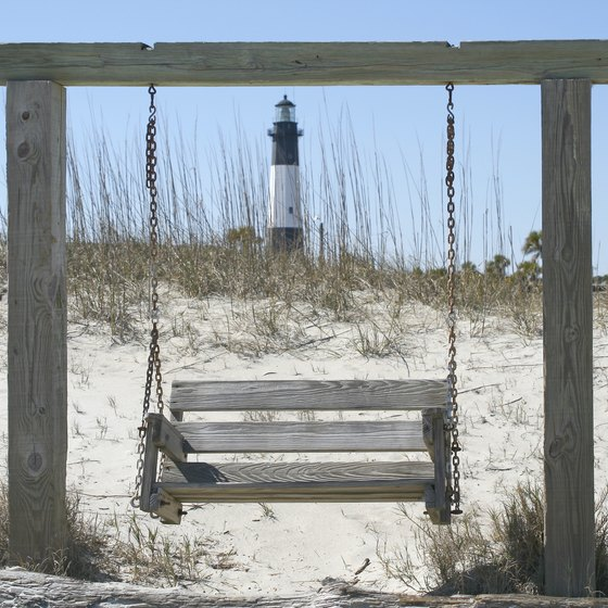 Tybee Island's lighthouse is a marker for Savannah beachgoers.