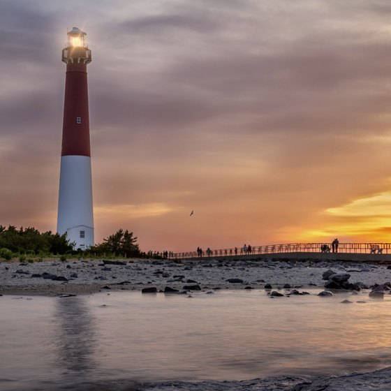 Barnegat Lighthouse presides over LBI's northern end.