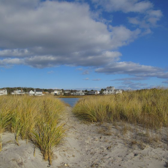 Cape Cod beaches, like this one near Hyannis, are postcard-perfect.