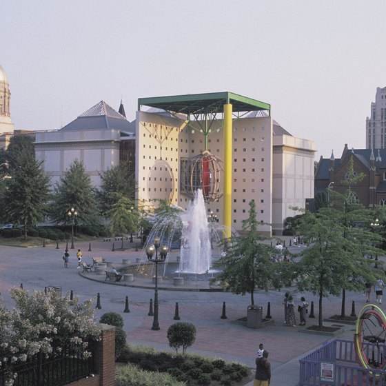 The World of Coca-Cola draws visitors to Baker Street in Atlanta, Georgia.