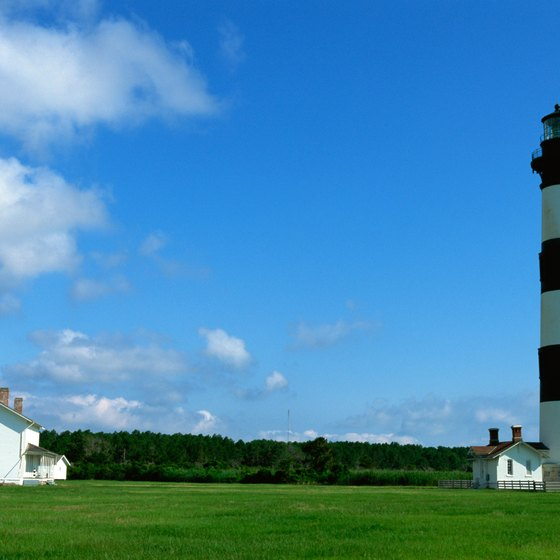 Picture-postcard lighthouses dot North Carolina's shore.