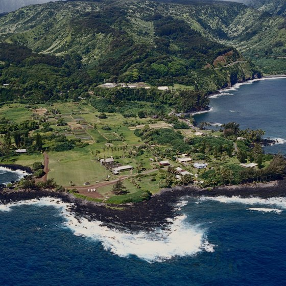 Hana, Maui from the air.