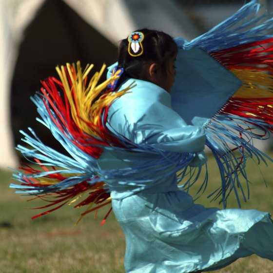 "Professional dancers often follow a ""powwow circuit,"" competing for prize money."