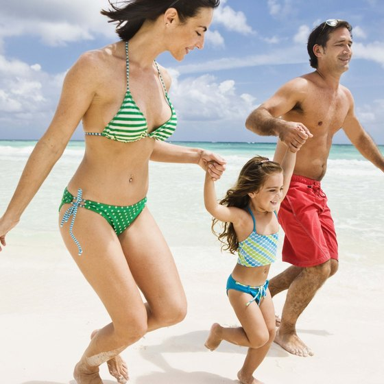 Visitors to Riviera Maya can enjoy fun in the sun on one of the area's white-sand beaches.