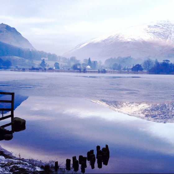 The Lake District of northwestern England lies within the Cumbrian Mountains.