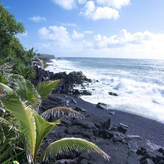 The natural beauty of volcanic sand beaches awaits Hawaii's visitors.