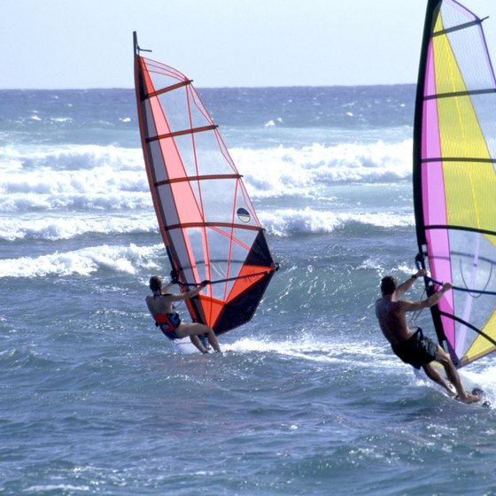 Cabrillo Beach may be one of the best windsurfing beaches in California.