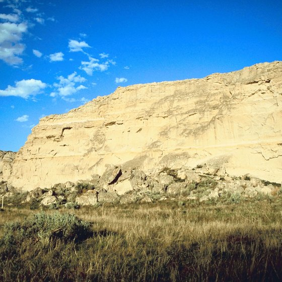 Register Cliff in Wyoming is a top Oregon Trail landmark.