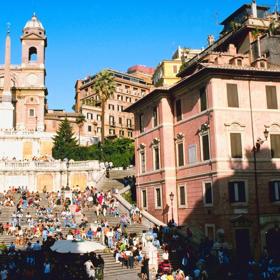 Rome's Spanish Steps are a favorite gathering point.