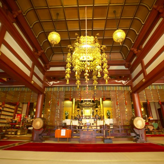 Visitors can often buy incense to burn while visiting a temple.