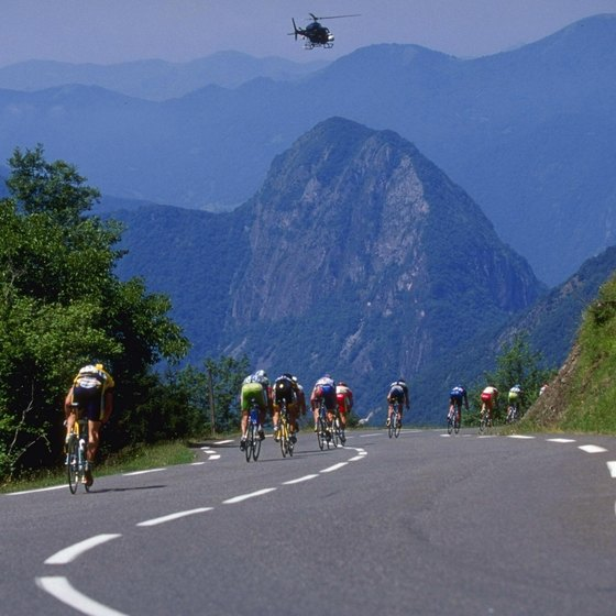 If you are as fit as Tour de France riders, you can bike through the Pyrenees.