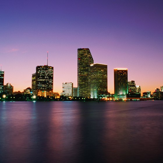 Nightlife is big in Miami, but take care when traveling around alone at night.