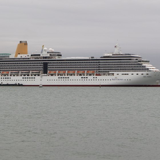 Southampton, England, is a departure point for P&O Cruises.
