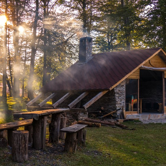 Cabins at Lincoln State Park in Indiana