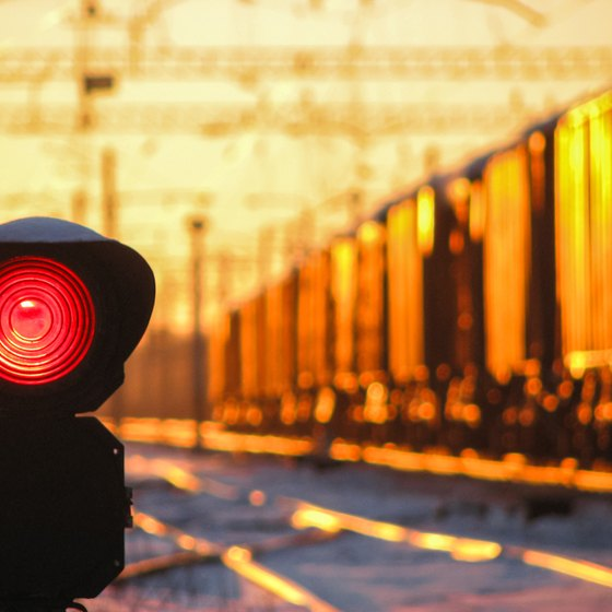 What Does a Flashing Red Light at a Train Track Mean?