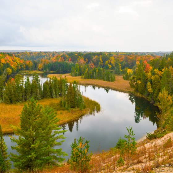 Campgrounds on the Au Sable River in Michigan