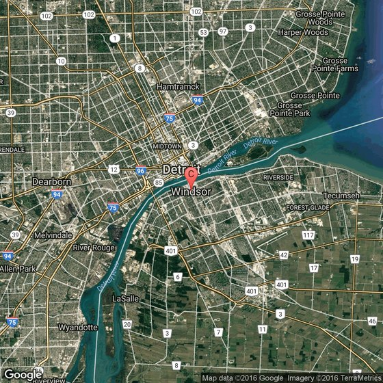 Map Of Hotels In Windsor Ontario
