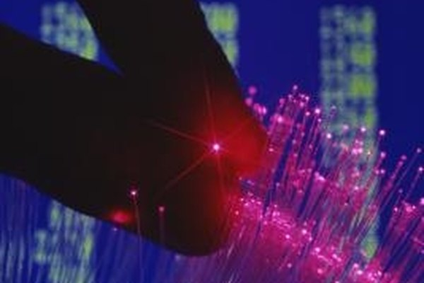 Fiber-optic cable brings high-speed Internet to consumers.