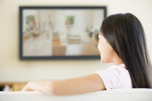 Image of a woman watching TV.