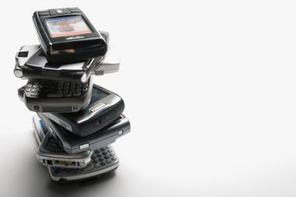 Pile of cell phones.