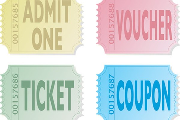 tickets, vouchers and coupons