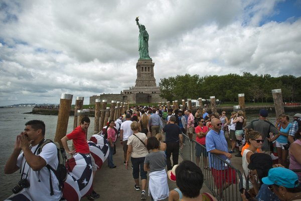 Statue Of Liberty Re-Opens To The Public For First Time Since Hurricane Sandy