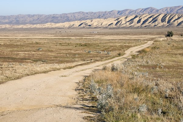 Dirt road leading to San Andreas Fault in central California