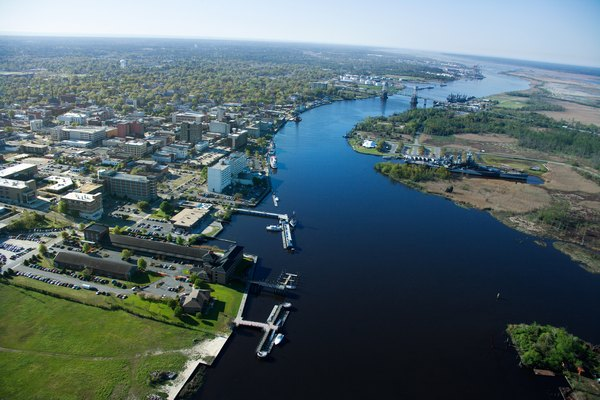 Aerial view of Wilmington, North Carolina