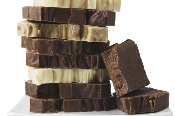Stack of chocolate chunks