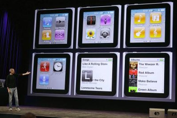 "The iPod Nano's ""Shake and Shuffle"" randomly plays songs from its music library."