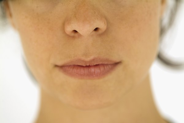 Extreme close-up of woman's mouth