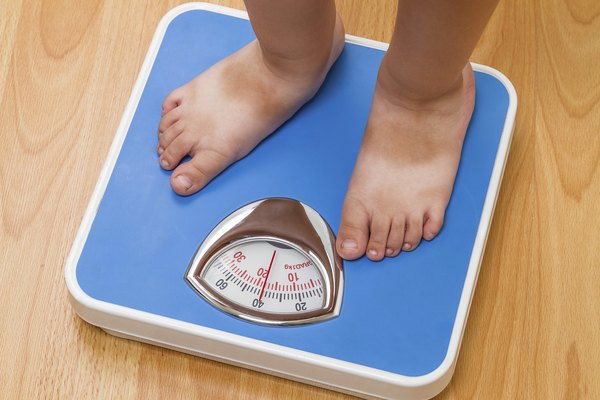 Baby on floor scales