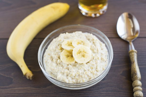 Oat porridge with banana